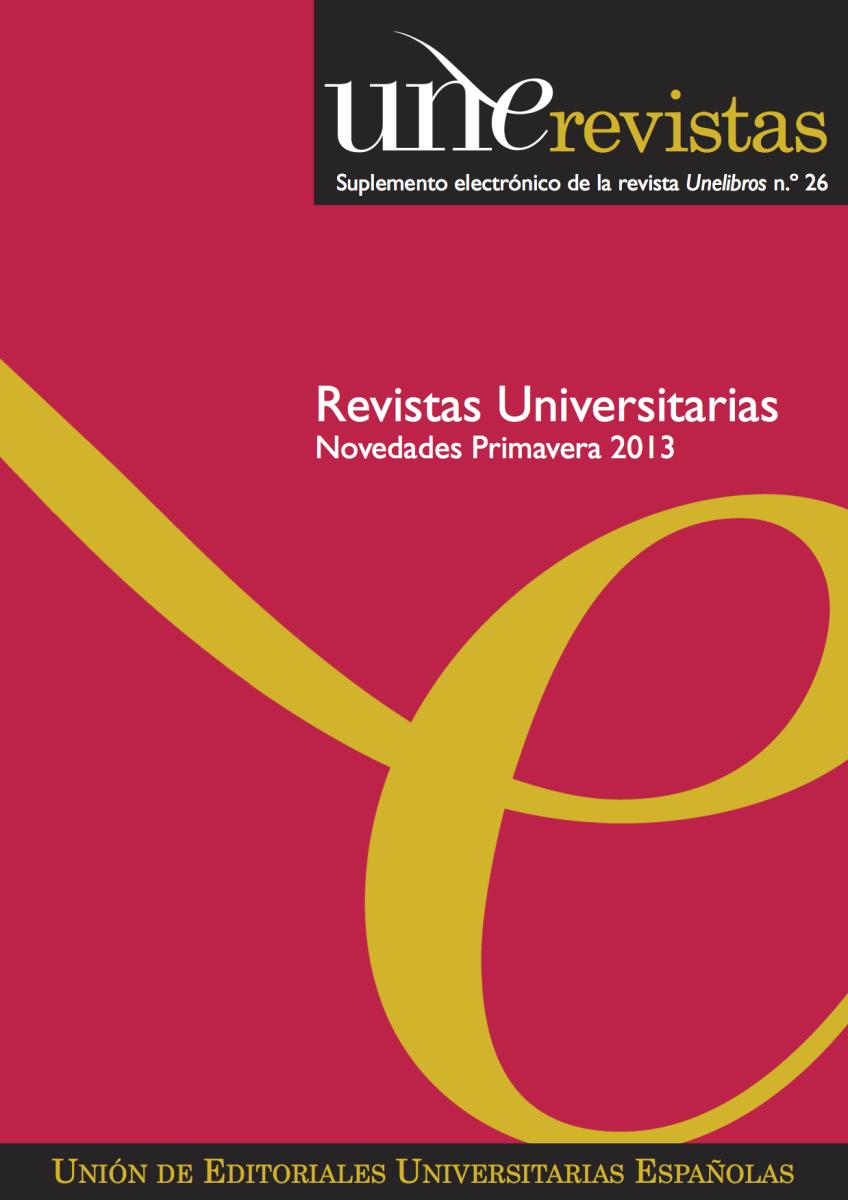 Boletín UNE Revistas Otoño 2012